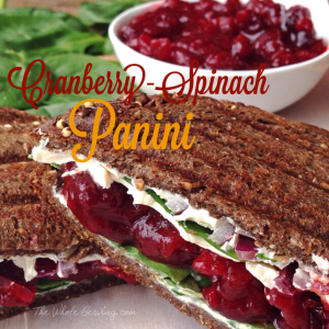 Cranberry-Spinach Panini
