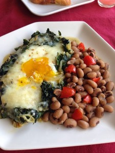 Eggs and Greens Bake
