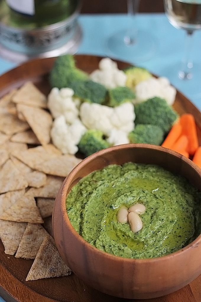 Spinach Cannellin -Humus