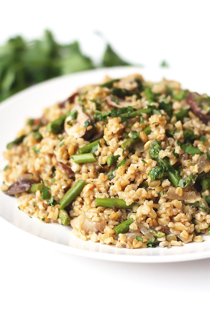 Freekeh-wMushroom-and-Asparagus