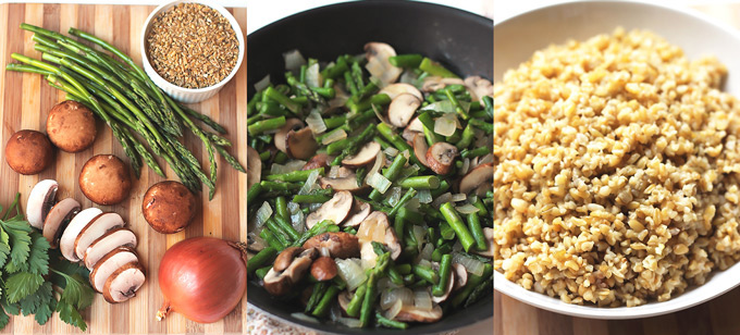 Freekeh-wMushrooms-and-Asparagus-Diptych