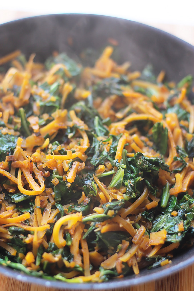 Butternut-Squash-with-Greens-Steam