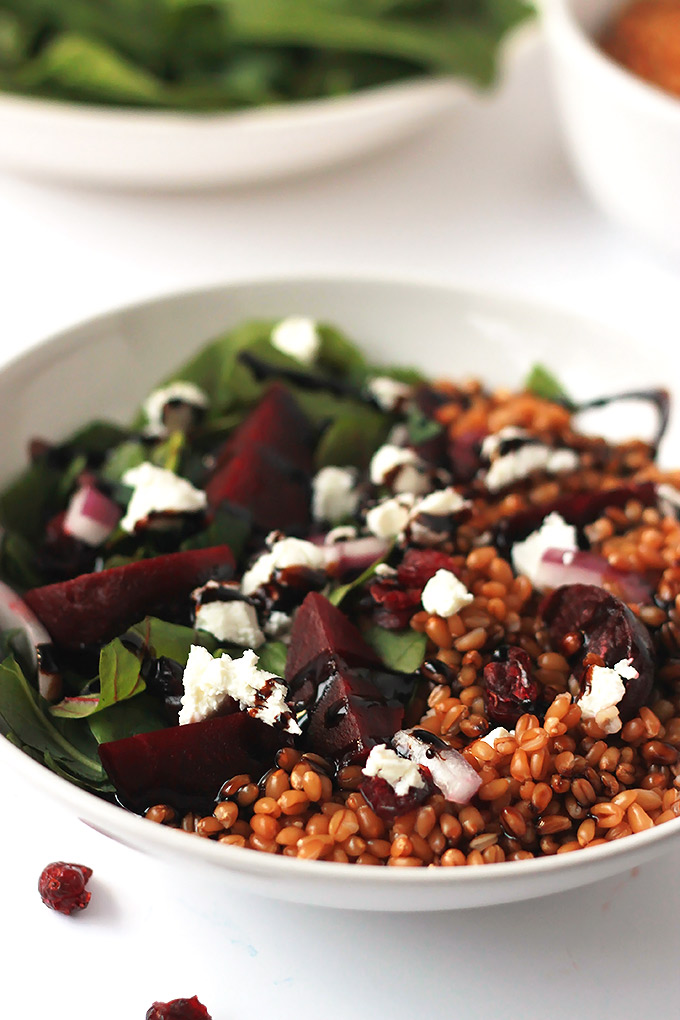 Wheatberry-Beet-Salad