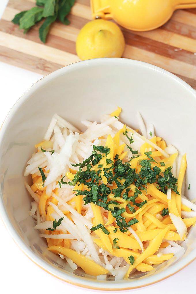 Ingredients-for-Jicama-Mango-&-Pear-Salad