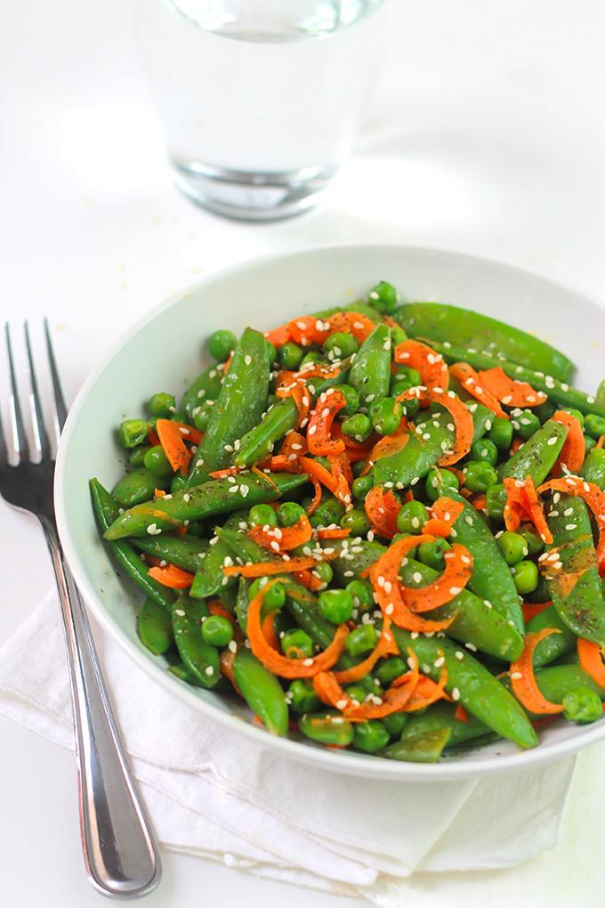 Sesame Sugar Snaps, Peas & Carrots - The Whole Serving
