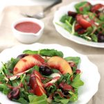 Fruity Spinach & Arugula Salad