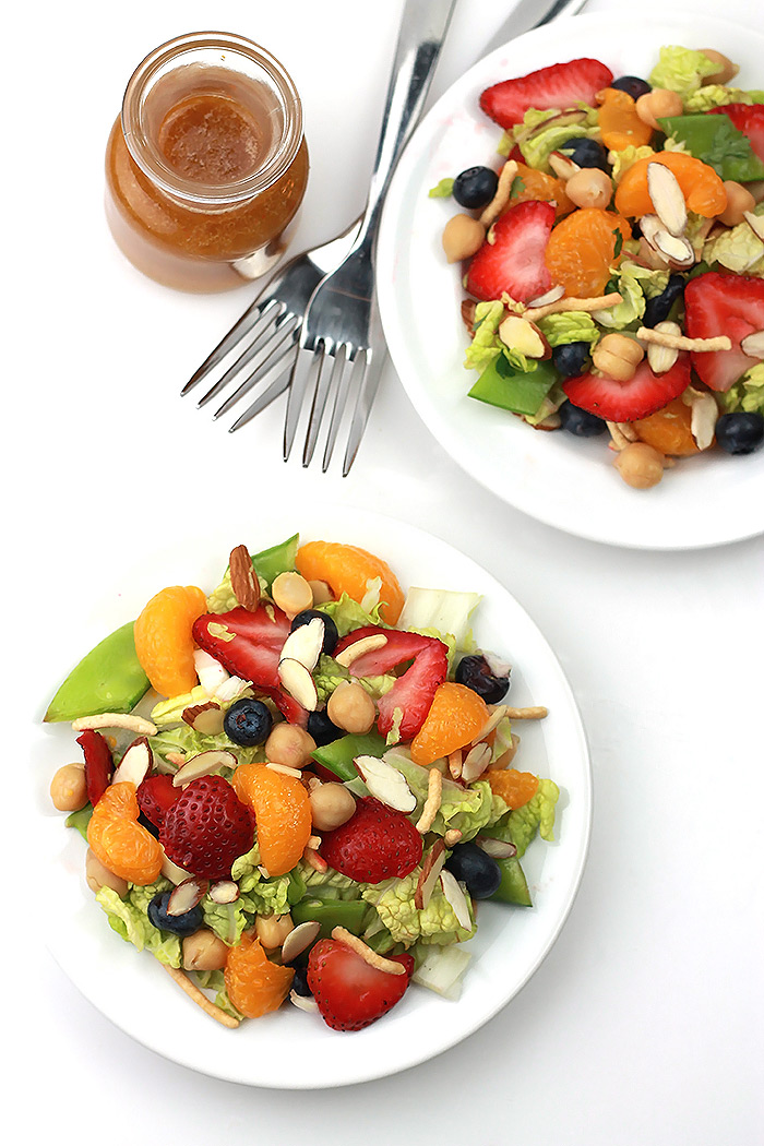 Napa Summer Salad, loaded with fresh fruits of the summer.