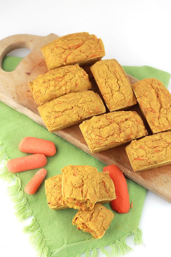 Savory Carrot Corn Muffins