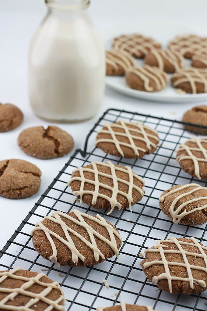 Soft and tender on the inside and slightly crisp on the outside these Ginger Spice Cookies pair perfectly with a glass of milk. Make some for Santa!!!