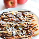 Apple Nachos with Vegan Caramel Sauce