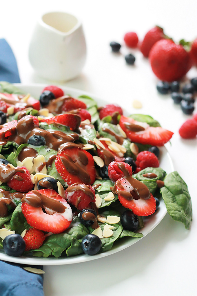 This Three Berry Salad with Poppy Seed Dressing is bursting with flavor from not one, not two, but three different berries. It may become one of your summer favorites.