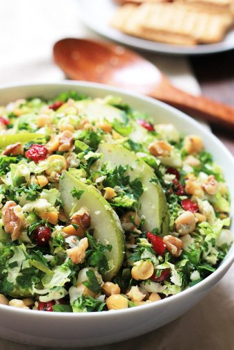 PEAR BRUSSELS SPROUT SALAD