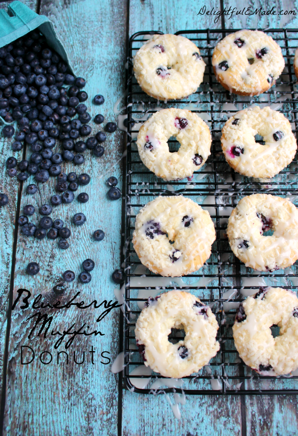 Welcome to Pretty Pintastic Party #149 and a must-try Blueberry Muffin Donut recipe from Delightful E Made. These blueberry treats are perfect for a lazy weekend mornings