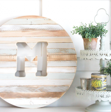 Welcome to Pretty Pintastic Party #146 and a DIY Monogram with Scrap Wood, my favorite pick from last week. This DIY project is a beautiful way to make good use of scrap wood.