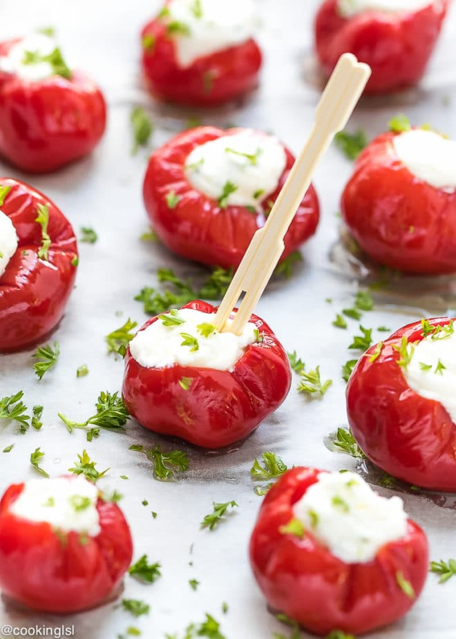 Welcome to Pretty Pintastic Party #163 & Stuffed Cherry Peppers. One of my favorites from last week, this recipe from Cooking LSL, Stuffed