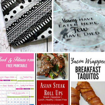 Welcome to Pretty Pintastic Party #190 and our Weekly Features! This week you'll find some awesome DIY projects, recipes and a very useful, printable Food and Fitness Planner. So check out the features and visit the party links below.