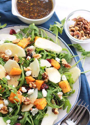 Plate of Butternut Apple salad