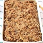 Apple Cinnamon Baked Oatmeal in baking dish.
